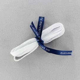 Lacets de chaussures plats Milo blanc (x2)