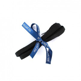 Flat shoe laces Milo - black (x2)
