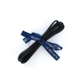 Lacets de chaussures cordon Ivo noir (x2)