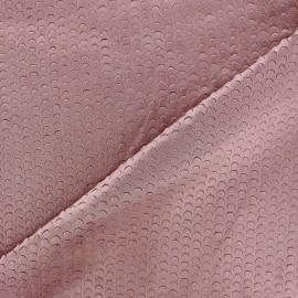 Tissu Suédine élasthanne Moon vieux rose x 10cm