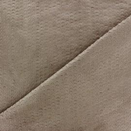 Tissu Suédine élasthanne Moon brun x 10cm