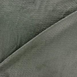 Suede elastane fabric Moon - petrol x 10cm