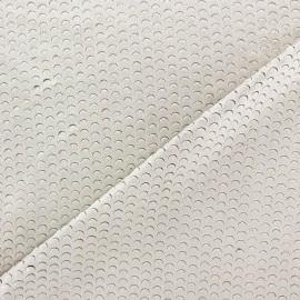 Suede elastane fabric Moon - ecru x 10cm