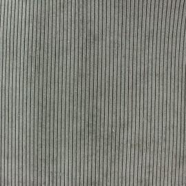 Tissu velours à grosses côtes entoilé Pana gris x 10 cm
