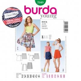 Patron Cousu Main Jupe Burda n°7049 - Saison 2