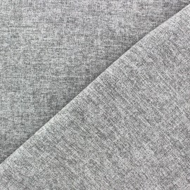 Flannel fabric Verona - light grey x 10cm