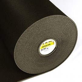 Entoilage molletonné Style-vil noir Vlieseline x10cm