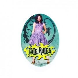 ♥ Iron on canvas patch ovale Descendants - Mal Isle Rules ♥