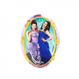 ♥ Thermocollant Descendants toile ovale - Evie et Mal ♥