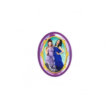 Iron on canvas patch Descendants - Evie and Mal