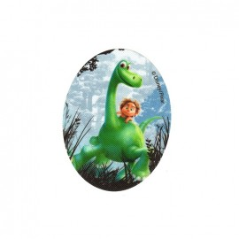 Iron on canvas patch ovale The Good Dinosaur - A