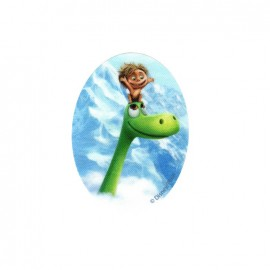 Iron on canvas patch ovale The Good Dinosaur - D