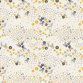 Cotton fabric Atelier Brunette - Mini Labo Angèle x 10cm