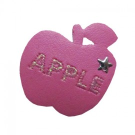 Imitation Apple iron-on applique - pink