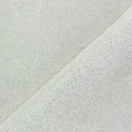 Glittery velvet fabric - white x10cm