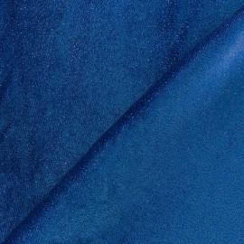 Glittery velvet fabric - blue x10cm