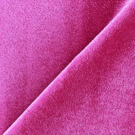 Glittery velvet fabric - violine x10cm