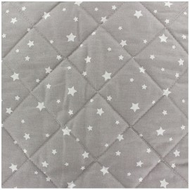 Quilted cotton fabric Scarlet - grey x 10cm
