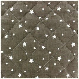 Quilted cotton fabric Scarlet - taupe x 10cm
