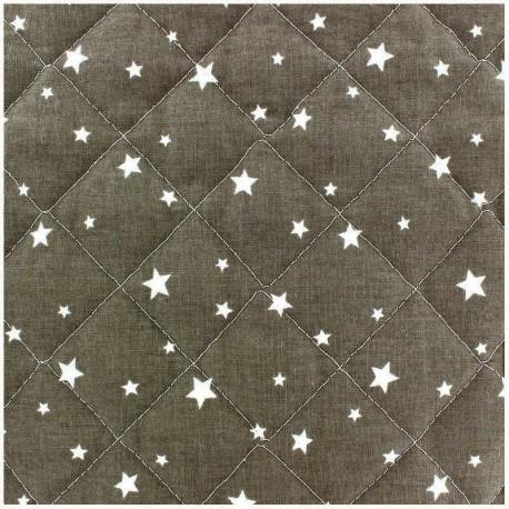 Tissu matelassé Scarlet gris x 10cm