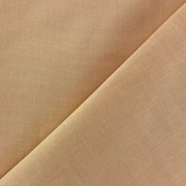 Tissu voile de coton sable clair x 10cm