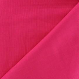 Tissu voile de coton rose bonbon x 10cm