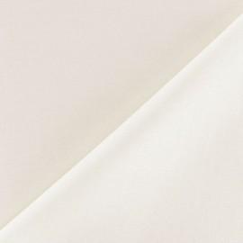 Tissu voile de coton blanc cassé x 10cm