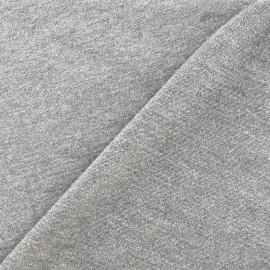 Tissu sweat léger Uni - gris clair x 10cm