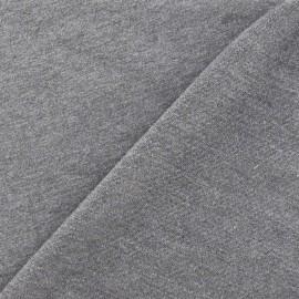 ♥ Coupon 10 cm X 145 cm ♥  Light jogging Jersey Fabric - anthracite