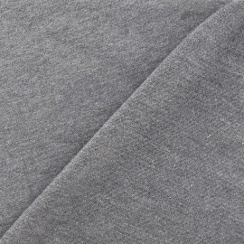 Tissu sweat léger Uni - gris anthracite x10cm