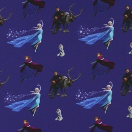 Tissu jersey Disney La Reine des neiges navy x 23 cm