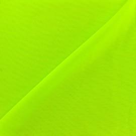 Tissu gainant PowerNet résille silhouette - vert fluo x 10 cm
