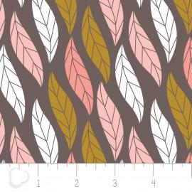 "Tissu Camelot Fabrics ""Leaves"" dark x 10cm"