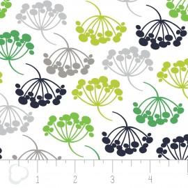 "Fabric Camelot Fabrics ""Floral"" - white x 10cm"