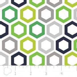 "Tissu Camelot Fabrics ""Hexagon"" multi x 10cm"