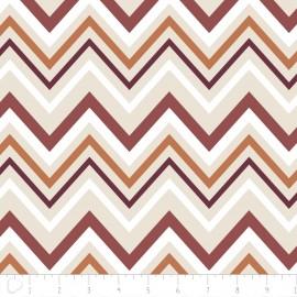 "Tissu Camelot Fabrics ""Chevron"" naturel x 10cm"