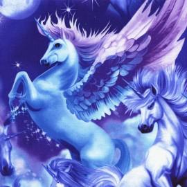 "Tissu Timeless Treasures ""Unicorns"" sky x 59cm"
