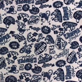 Fabric Poppy Jogging Chopper Style - blue x 10cm
