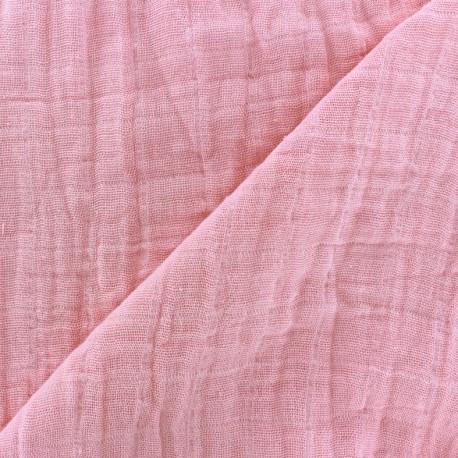 Bambino double gauze fabric - pink x 10cm