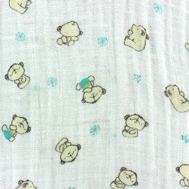 Nursery double gauze fabric - Teddy x 10cm