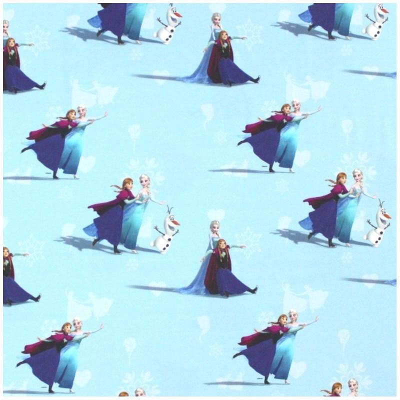 Tissu Jersey Disney La Reine Des Neiges Elsa Et Anna Bleu Ciel X 22 Cm Ma Petite Mercerie