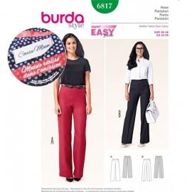 Patron Femme Pantalon Burda n°6817