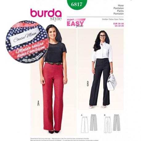 Pants Sewing Pattern Burda n°6817