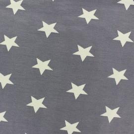 * Coupon 80 cm X 145 cm *  Tissu Jersey Poppy Big Stars gris