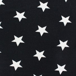 Poppy jersey fabric Stars - black x 10cm