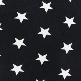 Tissu Jersey Poppy Big Stars noir x 10cm