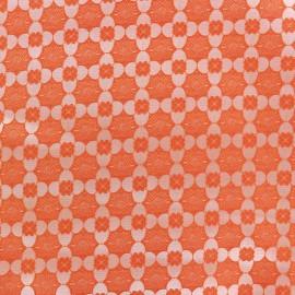 ♥ Coupon 200 cm X 120 cm ♥ Stretch jacquard fabric Alhambra - orange