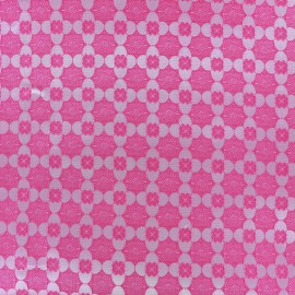 Stretc jacquard fabric Alhambra - pink x 10cm
