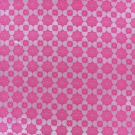Stretch jacquard fabric Alhambra - pink x 10cm