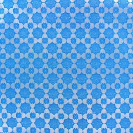 Tissu jacquard stretch Alhambra - bleu x 10cm